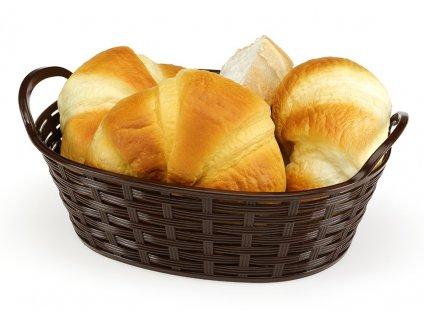 kosik na chlieb ovalny 24 cm bez textilie