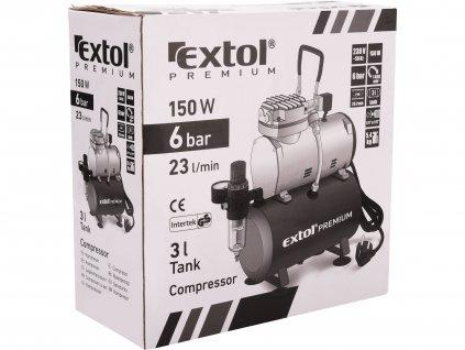 EXTOL PREMIUM 8895300 kompresor, 150W