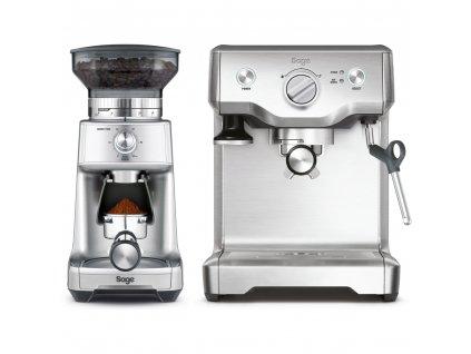 BES810BSS Espresso SAGE  + SAGE BCG600 mlýnek na kávu v hodnotě 4990,-