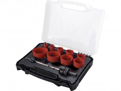 EXTOL PREMIUM 8801604 vrtáky korunkové, univerzální, 9 průměrů ∅19-64mm, HSS/Bi-metal