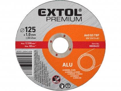 EXTOL PREMIUM 8808402 kotouč řezný na hliník, 125x1,0x22,2mm