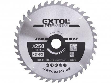 EXTOL PREMIUM 8803241 kotouč pilový s SK plátky, 250x2,2x30mm, 40T