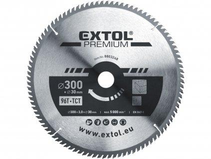 EXTOL PREMIUM 8803248 kotouč pilový s SK plátky, 300x2,2x30mm, 96T