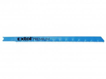 EXTOL PREMIUM 8805705 plátky do přímočaré pily 5ks, 106x1,8mm, Bi-metal