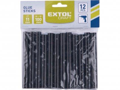 EXTOL CRAFT 9913 tyčinky tavné, černá barva, pr.11x100mm, 12ks