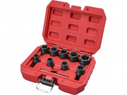 """EXTOL PREMIUM 8818141 hlavice na uvolňování šroubů a matic, sada 10ks, 3/8"""", 10-19mm, CrMo"""
