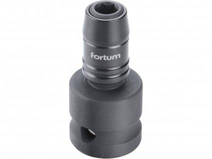 """FORTUM 4790002 rázový adaptér 1/2""""čtyřhran na hroty 1/4"""", CrMoV"""