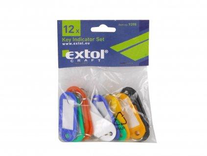 EXTOL CRAFT 9398 visačky ke klíčům, sada 12ks