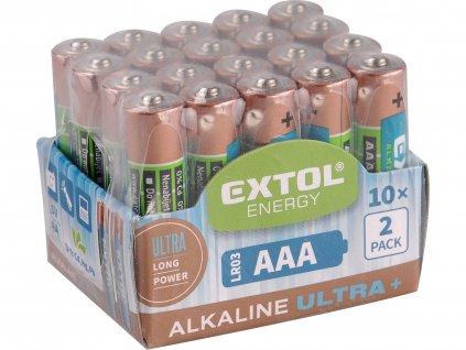 EXTOL ENERGY 42013 baterie alkalické, 20ks, 1,5V AA (LR6)