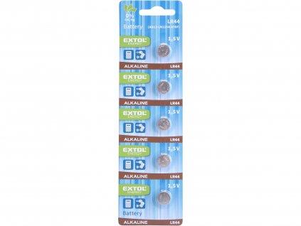 EXTOL ENERGY 42051 baterie alkalické, 5ks, 1,5V (LR44)