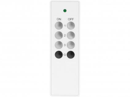 EXTOL LIGHT 43820 ovladač, 3+1, 3 jednotlivé/skupinové kanály, 1 společný kanál, dosah 30m