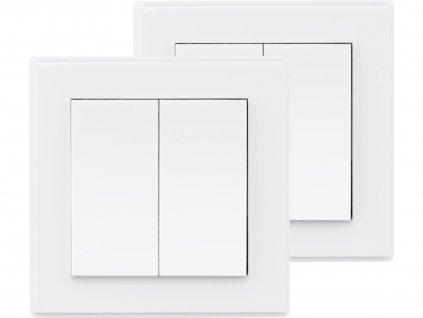EXTOL LIGHT 43822 vypínač/ovladač, dvojitý, 2ks, 2 jednotlivé/skupinové kanály