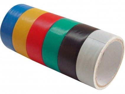 EXTOL CRAFT 9550 pásky izolační PVC, sada 6ks, 19mm x 18m , (3m x 6ks)