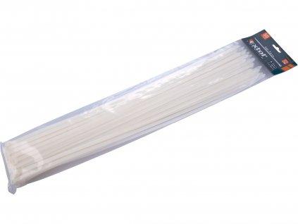 EXTOL PREMIUM 8856122 pásky stahovací bílé, 540x7,6mm, 50ks, nylon