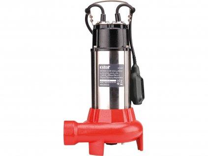 EXTOL PREMIUM 8895005 čerpadlo ponorné kalové s řezacím nožem, 1100W, 16200l/hod=270l/min