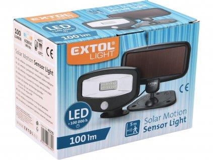EXTOL LIGHT 43270 reflektor LED s pohybovým čidlem, 100lm, solární nabíjení