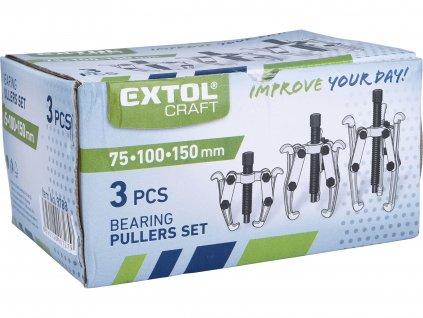 EXTOL CRAFT 9788 stahováky, sada 3ks, hloubka , 75-100-150mm