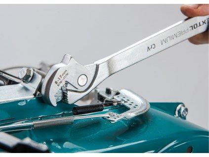 EXTOL PREMIUM 8816342 klíč multifunkční samonastavitelný oboustranný, 8-17/14-32mm, CrV