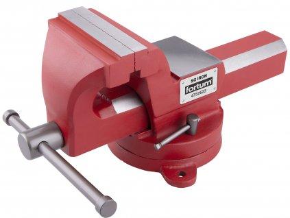 FORTUM 4752623 svěrák otočný s kovadlinou, 125mm, SG Iron