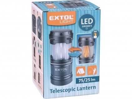 lucerna teleskopická LED, 75lm/plamen