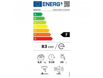 EW 6S1526WC PRAČKA SLIM ELECTROLUX