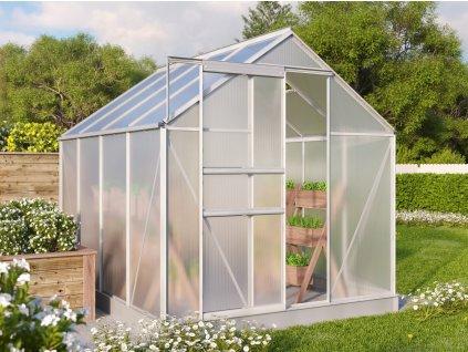 skleník VITAVIA TARGET 5000 PC 4 mm stříbrný