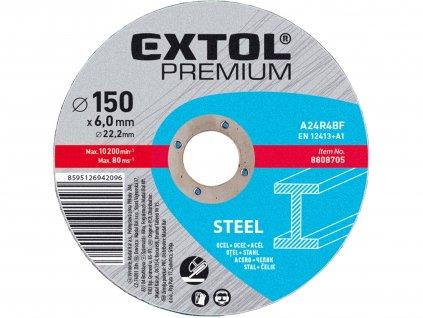 EXTOL PREMIUM 8808708 kotouč brusný na ocel, 180x6,0x22,2mm