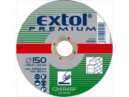 EXTOL PREMIUM 8808808 kotouč brusný na kámen, 180x6,0x22,2mm