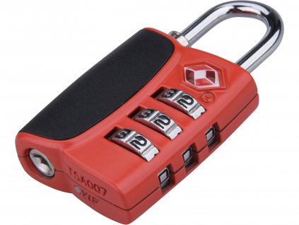 EXTOL PREMIUM 8857301 zámek kombinační TSA s trojmístným kódem, 61x32x tl.14mm