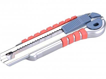 EXTOL PREMIUM 8855015 nůž ulamovací s kovovou výstuhou a zásobníkem, 18mm Auto-lock