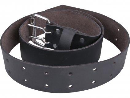 EXTOL PREMIUM 8858039 opasek kožený černý, š.4,5cm x d.122cm, kovová přezka, kůže