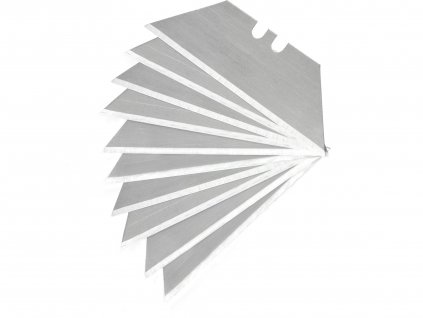 EXTOL PREMIUM 8855099 břity do nože, 19mm, 10ks, trapezoid, SK4