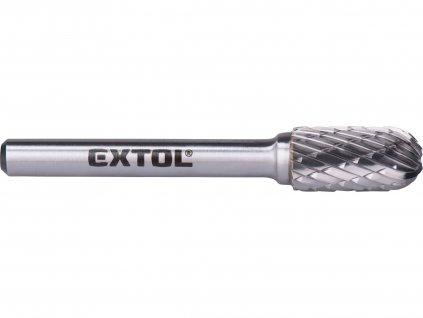 EXTOL INDUSTRIAL 8703724 fréza karbidová, válcová s kulovým čelem, pr.10x20mm/stopka 6mm,sek střední(double-cut)