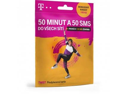 Twist sim 50 minut a 50 SMS