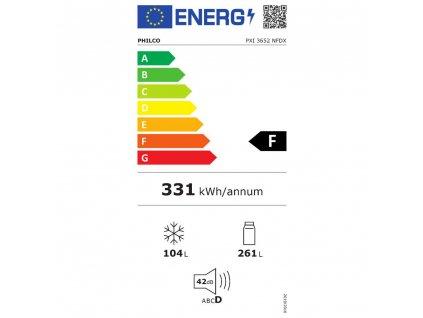 PXI 3652 NFDX SBS chladnička PHILCO  + aroma difuzér ORIENT, osvěžovač a zvlhčovač vzduchu, kovový povrch
