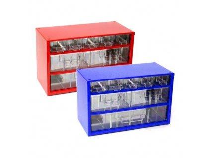 skříňka 3 velikosti  5m,2s,1v 6733  30,5x19,5cm kov.