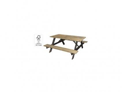 set zahradní dřev. sv./tm. 150x153x67cm