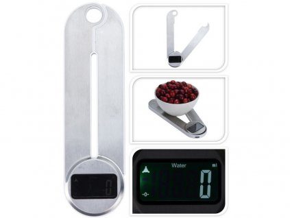 váha kuchyňská skládací 5kg digitální, nerez/PH
