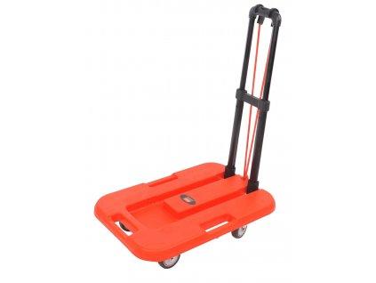 vozík plošinový skládací 750x1035x380mm PP+kov, nosnost 100kg
