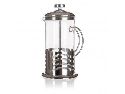 konvice na kávu WAVE 1,0l sklo+nerez