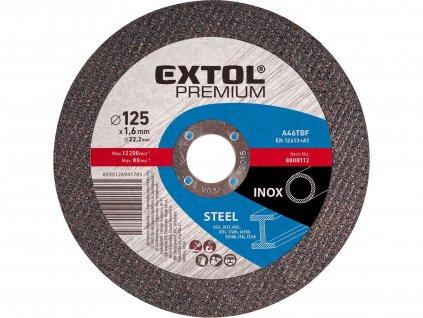 EXTOL PREMIUM 8808122 kotouč řezný na ocel/nerez, 125x2,5x22,2mm