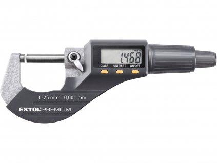 EXTOL PREMIUM 8825320 mikrometr digitální, 0-25mm