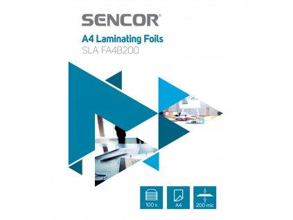 SLA FA4B200 Fólie A4 200mic 100ks SENCOR