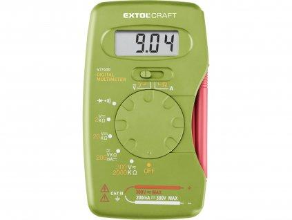 EXTOL CRAFT 417400 multimetr digitální, kapesní