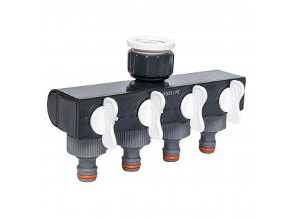 "adaptér na kohoutek-rozdělovač 4cestný,1""-3/4"",WL-3033,WHITE LINE"