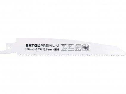 EXTOL PREMIUM 8806203 plátky do pily ocasky 3ks, 150x22x1,6mm, Bi-metal