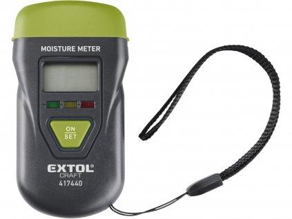 EXTOL CRAFT 417440 vlhkoměr pro měření vlhkosti dřeva, omítky a podobných materiálů