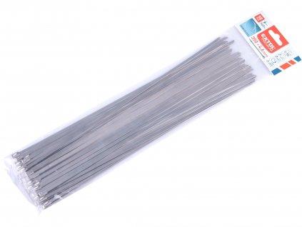 EXTOL PREMIUM 8856278 pásky stahovací NEREZ, 350x4,6mm, 50ks