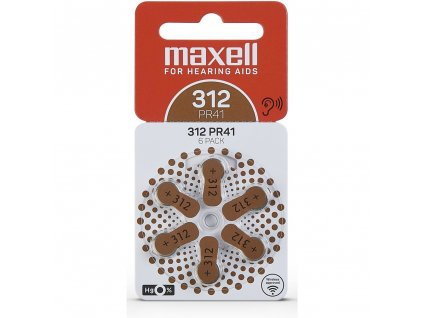 AZ312/PR41 ZINK AIR 6PK MAXELL