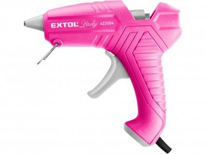 EXTOL LADY 422004 pistole tavná lepící, ⌀11mm, 40W, růžová